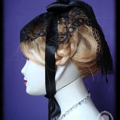 Viktoriánský ranní krajkový čepeček